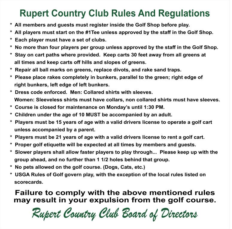 2019 RCC Rules